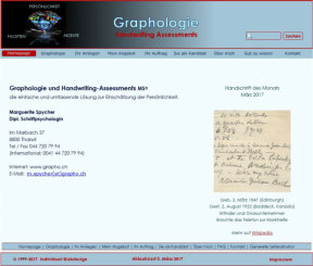 Graphologie und Handwriting Assessments
